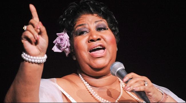 أريثا فرانكلين تغني للبابا