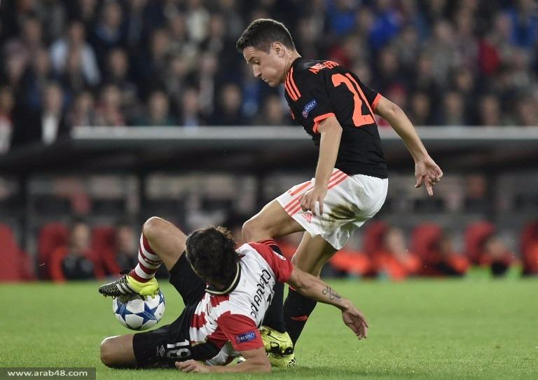آيندهوفن يهزم مانشستر يونايتد بهدفين مقابل هدف