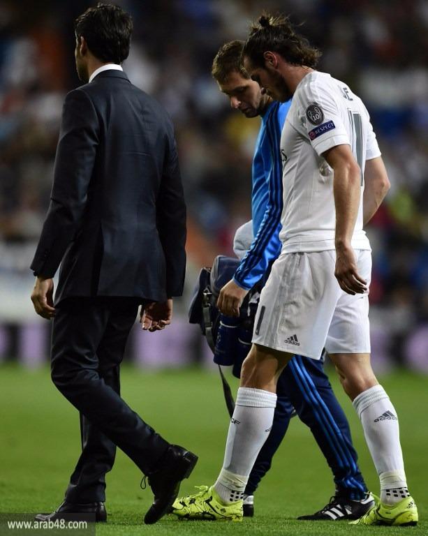 ريال مدريد قلق بشأن إصابة لاعبه غاريث بيل