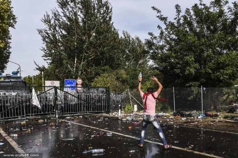 اللاجئون: اشتباكات في المجر وبلغاريا ومبيت على حدود اليونان