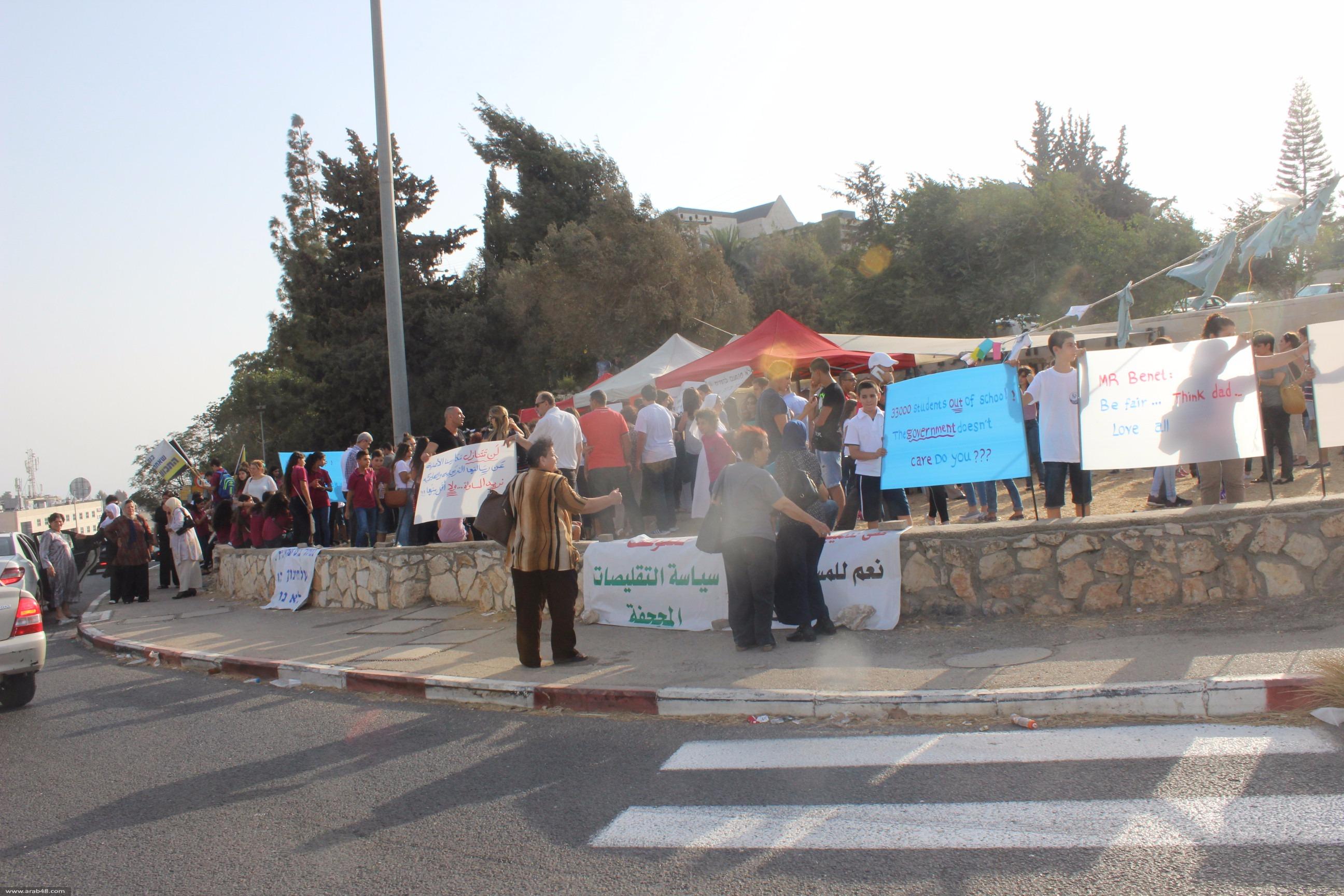 خيمة التضامن مع المدارس الأهلية بالناصرة تستعد إمّا للانتصار أو الانتقال