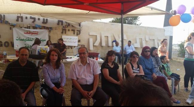 الناصرة: وفد الجمعيات العربية يزور خيمة المدارس الأهلية