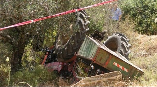 مصرع سائق جرار في حقول قرية نين