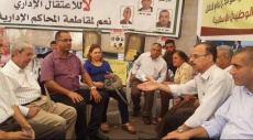 التجمع يزور خيمتي التضامن مع الأسرى بنابلس ورام الله
