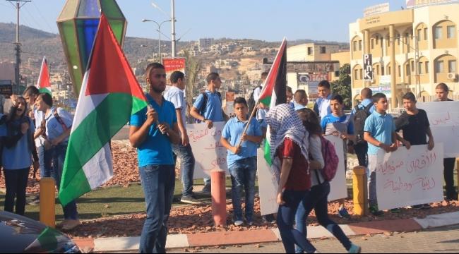 عرابة: طلاب المدارس يتظاهرون نصرة للأقصى