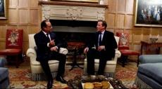 """هولاند وكاميرون يتفقان على """"تفعيل العملية السياسية"""" في سورية"""
