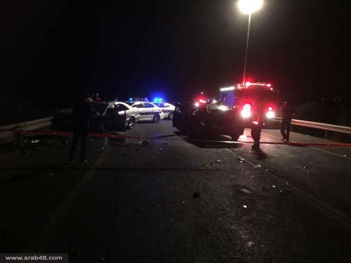 ١٠ أصابات منها ٣ خطيرة بحادث طرق بالقرب من صفورية