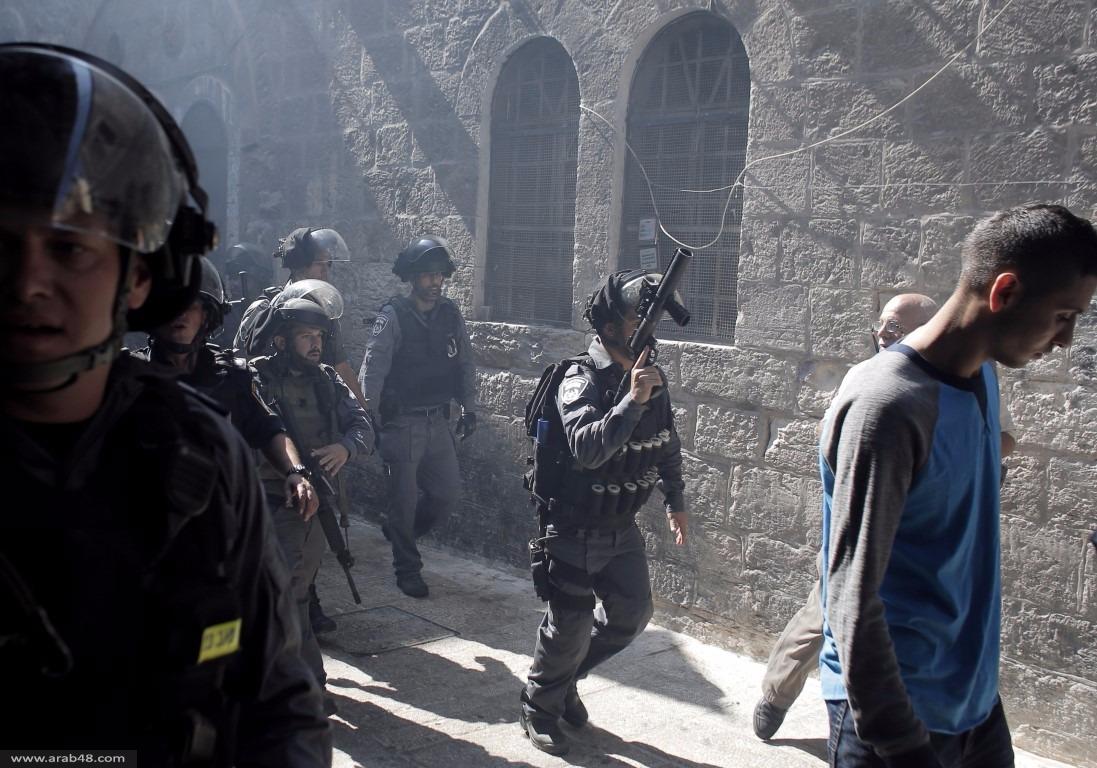 صور من اقتحام قوات الاحتلال للمسجد الأقصى صباح اليوم