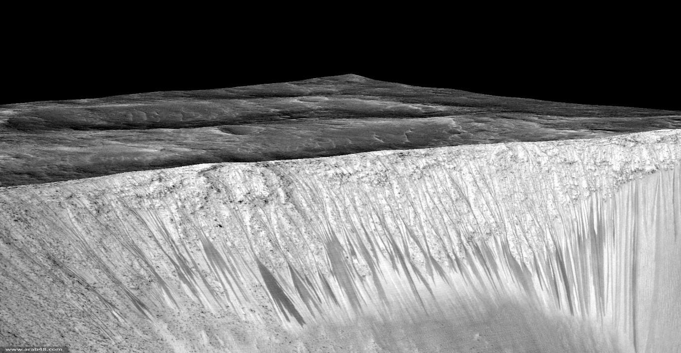 اكتشاف تاريخي: مياه جارية على سطح المريخ