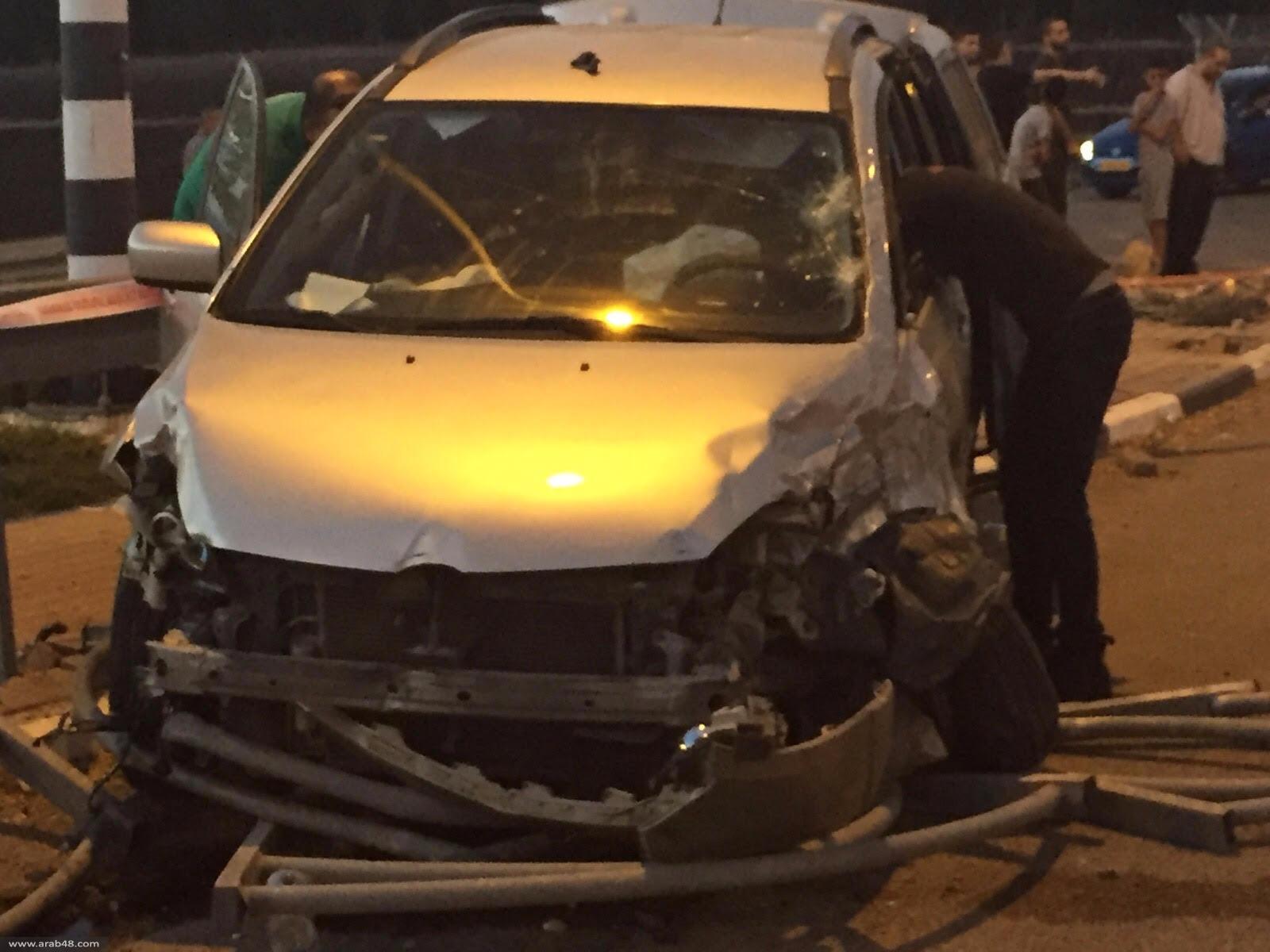 طمرة: 6 إصابات في تصادم مركبتين