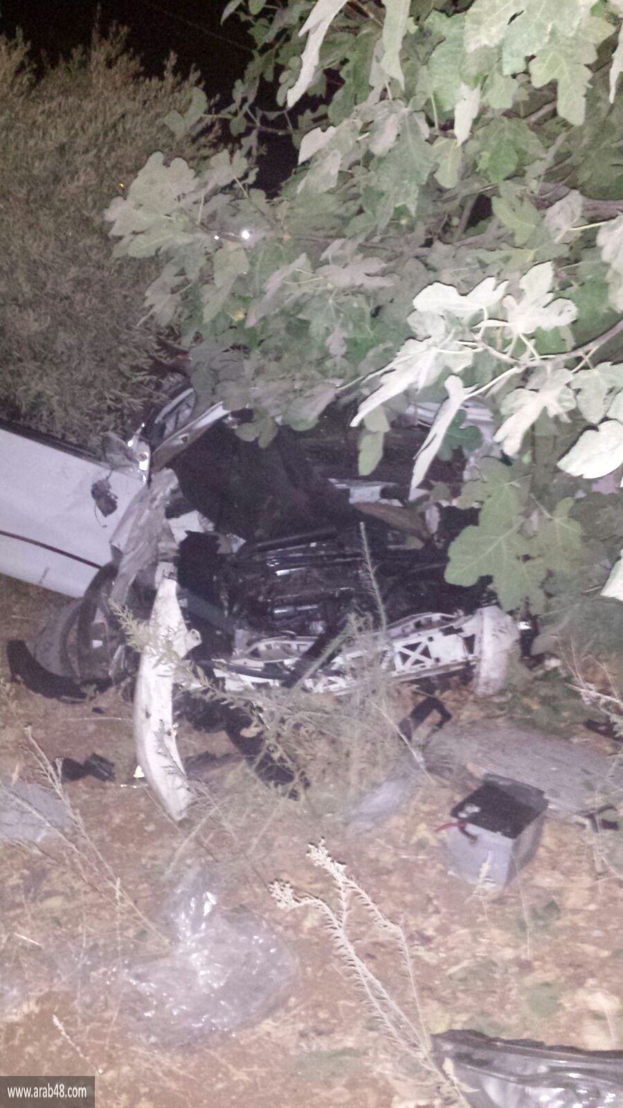 المغار: إصابة سائق صدم عامود كهرباء