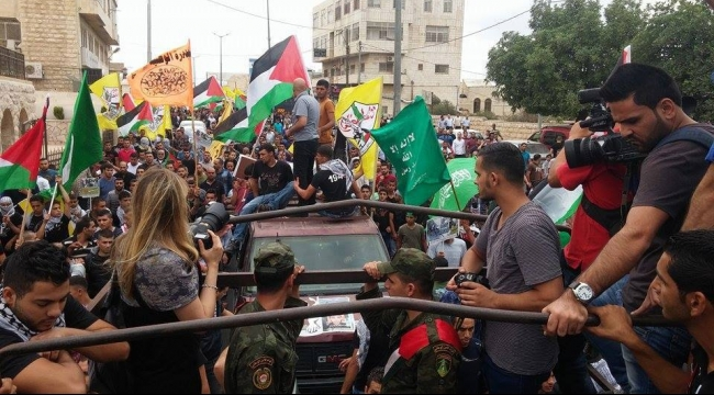 بيت لحم: تشييع جثمان الشهيد الطفل  عبد الرحمن أبو شنب