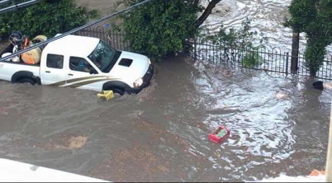 الناصرة: مياه المطر الأول تغمر شوارع المدينة
