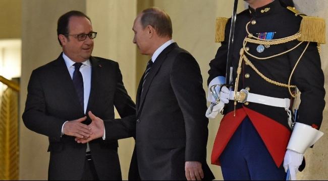 هولاند ينفي أقوال بوتين حول التعاون العسكري في سوريا