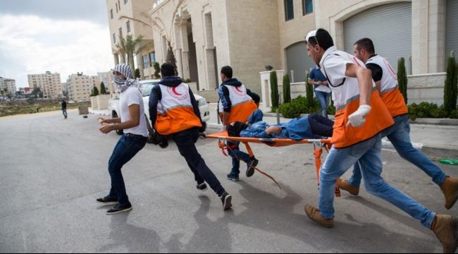 الهلال الأحمر: إصابة 351 فلسطينيا خلال الـ24 ساعة الماضية