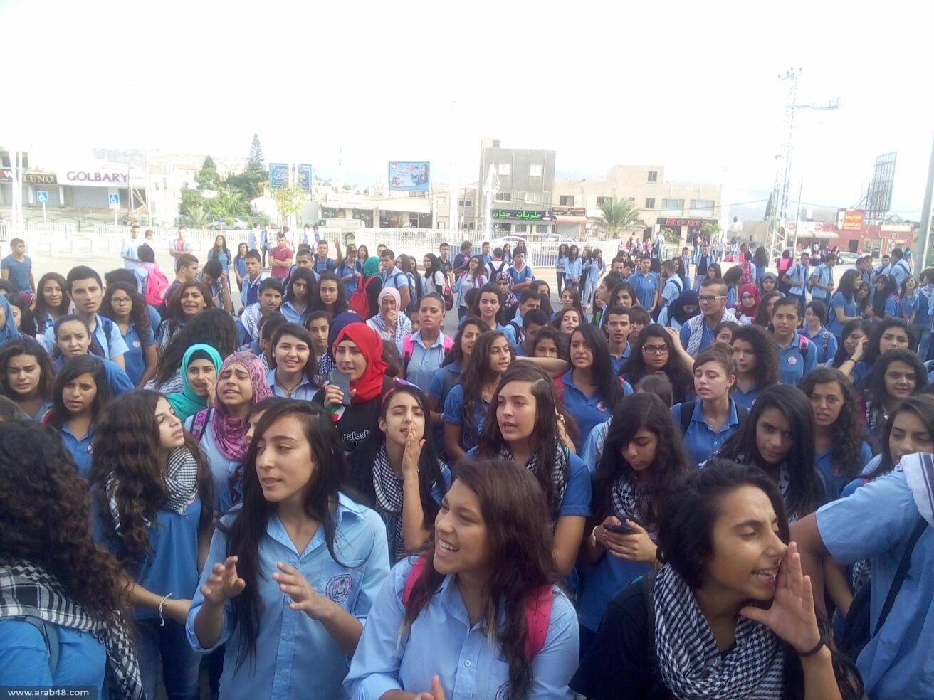 سخنين: مئات الثانويين في مسيرة احتجاج