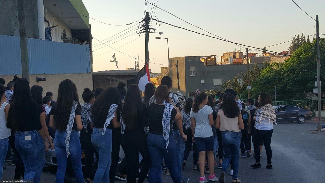 عبلين: مسيرة شبابية نصرة للقدس والأقصى