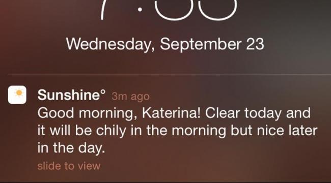 """""""صن شاين"""" تطبيق جديد للتنبؤ بأحوال الطقس"""