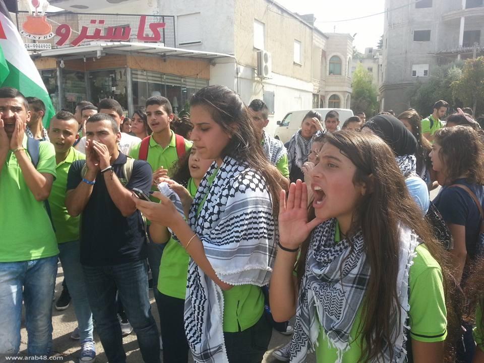 طمرة: الحراك الشبابي ينظم مسيرة طلابية للثانويات