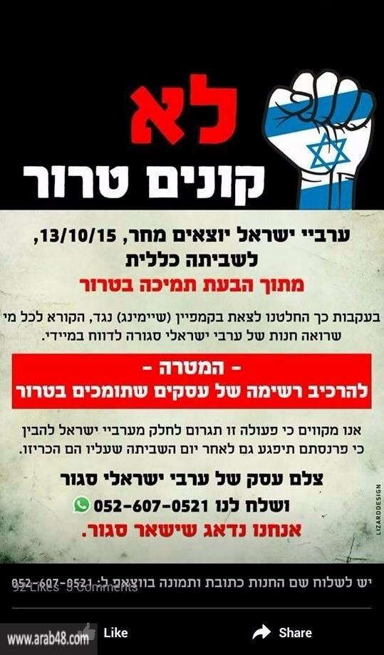 """تحريض متطرفين يهود: """"قمامة... من يشتري من العرب"""""""