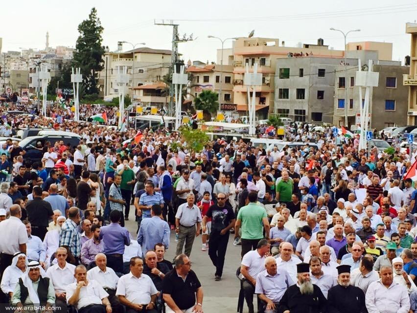 سخنين: بحر شبابي يهتف بأضخم مظاهرة نصرة للقدس والأقصى