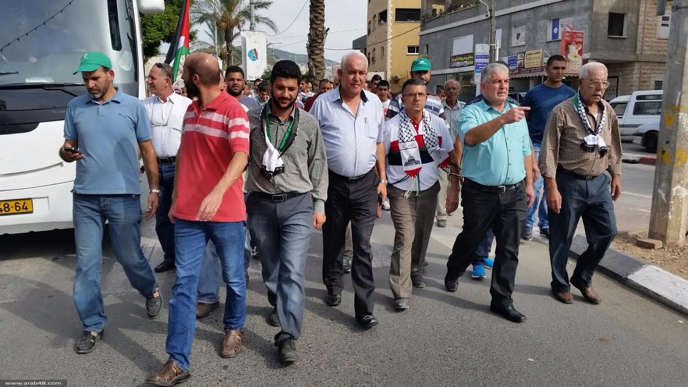 طمرة: مسيرة احتجاجية تسبق المظاهرة القطرية في سخنين