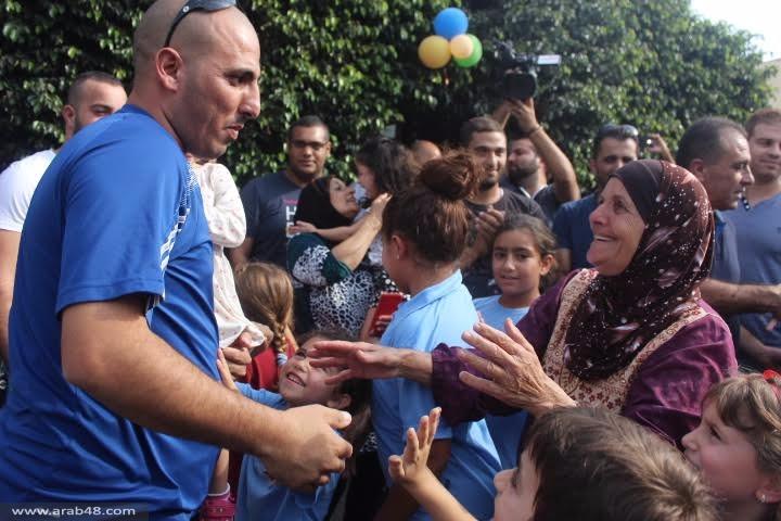 شفاعمرو: استقبال الأسير المحرر باسل خطيب