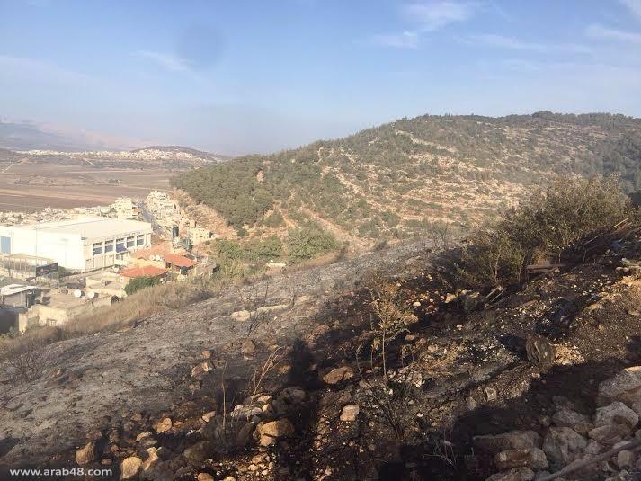 البعينة – النجيدات: إصابة في اندلاع حريق