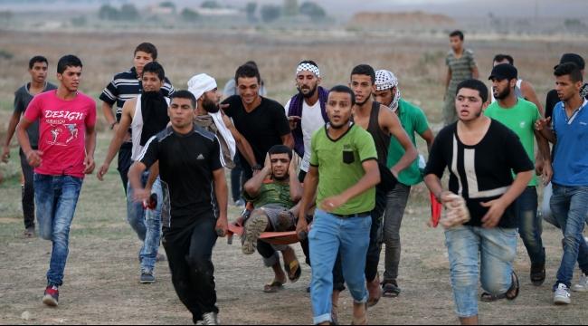 إصابة 3 فلسطينيين في مواجهات مع الاحتلال على حدود غزة