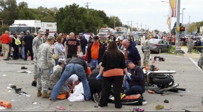 أميركا: 4 قتلى و44 جريحا في حادث دهس
