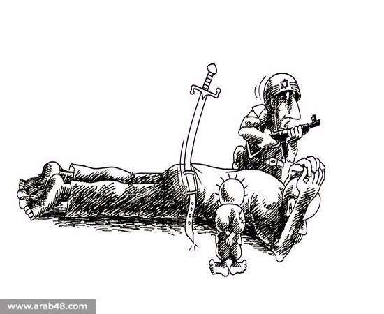 رسومات ناجي العلي عن انتفاضة السكاكين