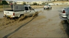 النقب: الفيضانات ومياه السيول تغرق الشوارع في عدة قرى