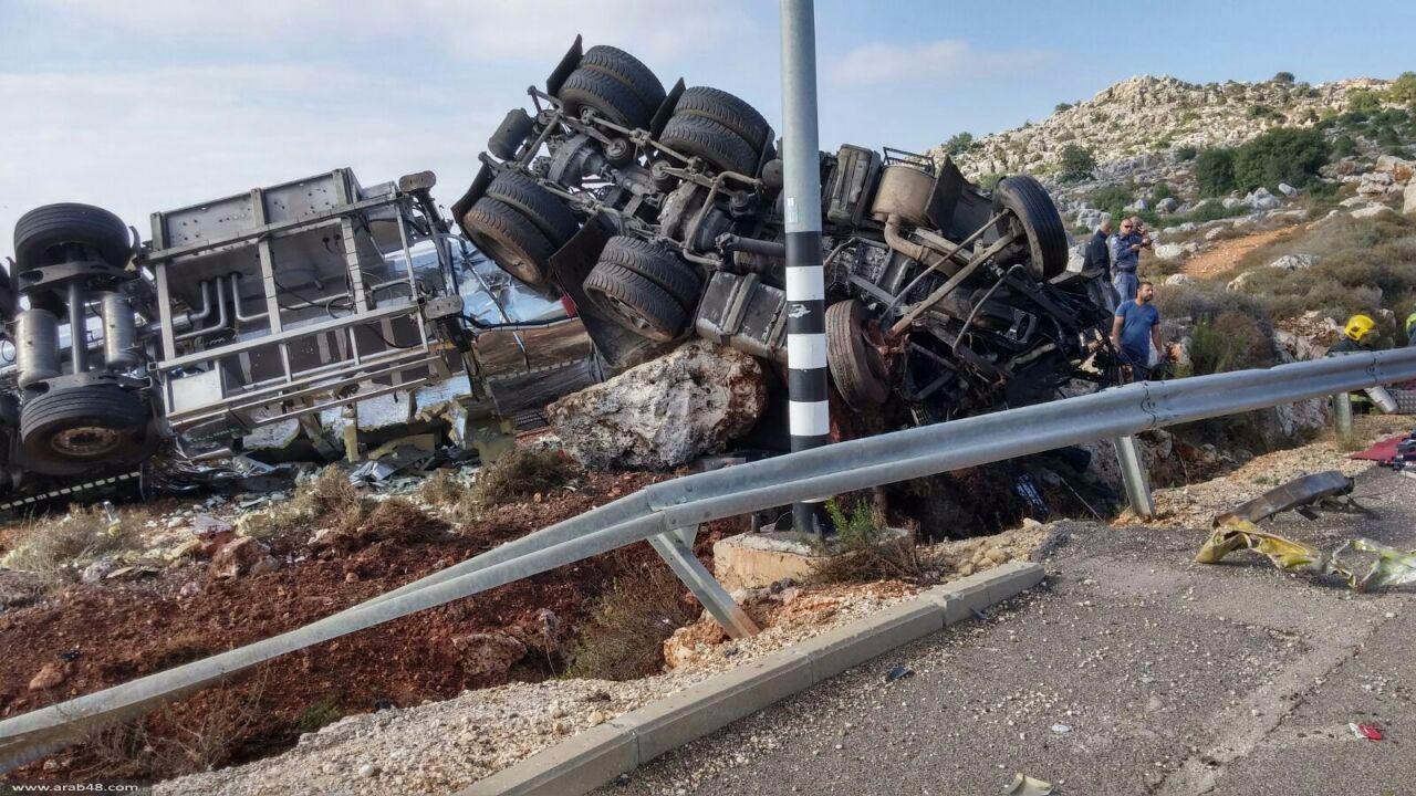 مصرع سائق شاحنة بحادث ذاتي قرب معليا