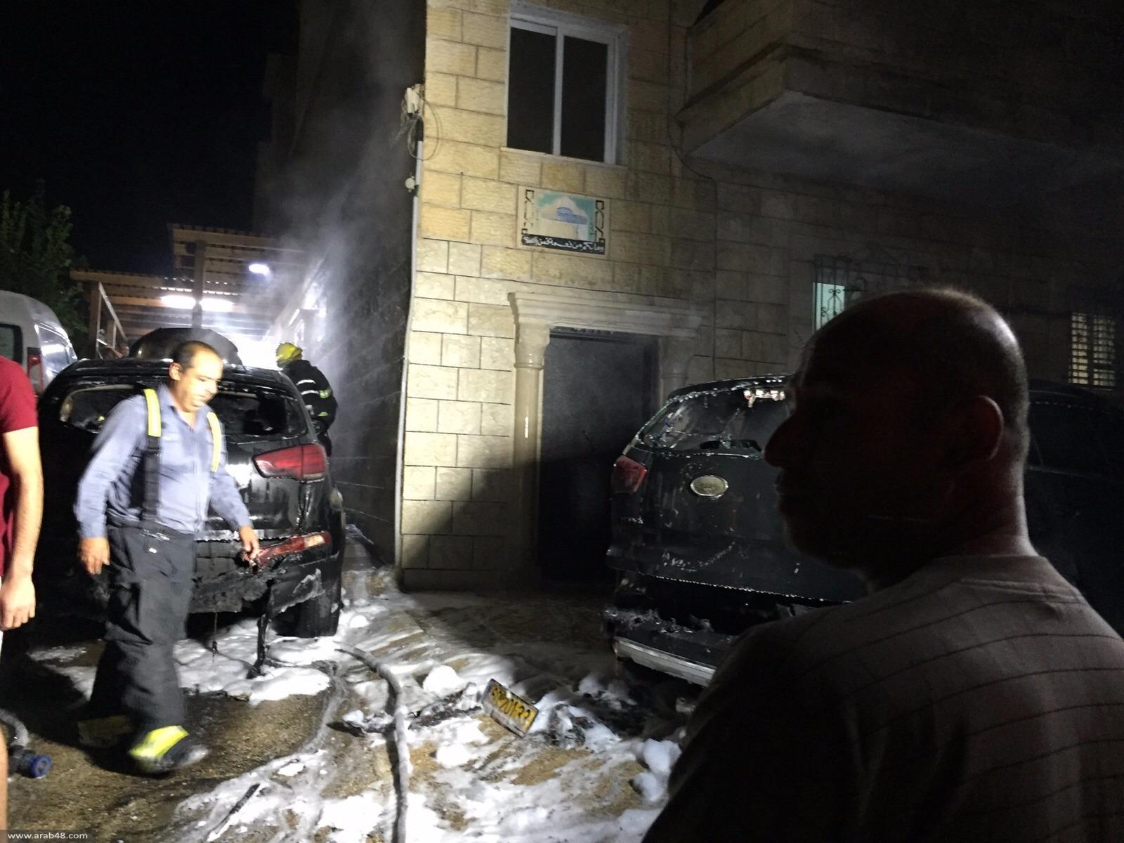 كفرمندا: احتراق 6 مركبات في حي المعاصر