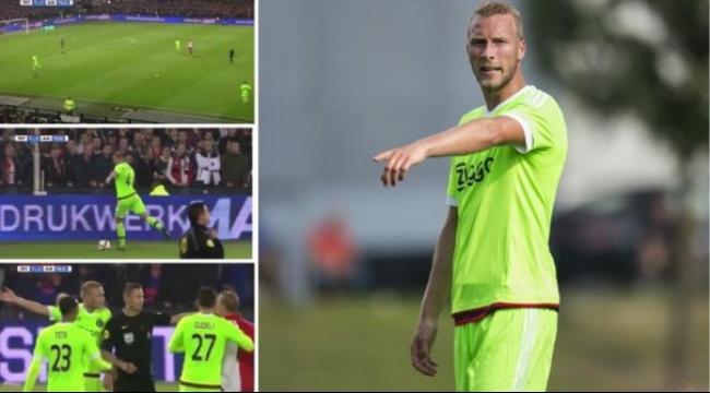 لاعب أياكس أمستردام يثير استفزاز الجماهير في هولندا
