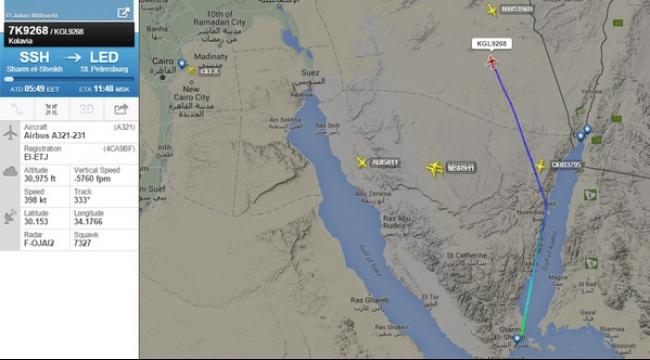 طائرات إسرائيلية شاركت في البحث عن الطائرة الروسية