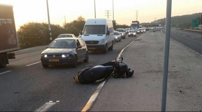 كفرياسيف: إصابات في تصادم مركبة بدراجة نارية