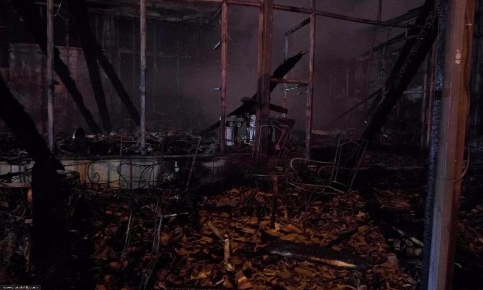 أم الفحم: حريق هائل في بناية مكونة من 3 طوابق