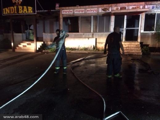 دير الأسد: حريق يلتهم محتويات مطعم