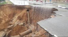 عسقلان تغرق: إغلاق مستشفى برزيلاي وانهيار طريق رئيسي