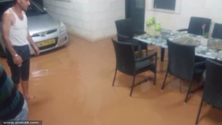 الشاغور: مياه الأمطار تتدفق لعدة منازل وتتسبب بإغلاق شوارع