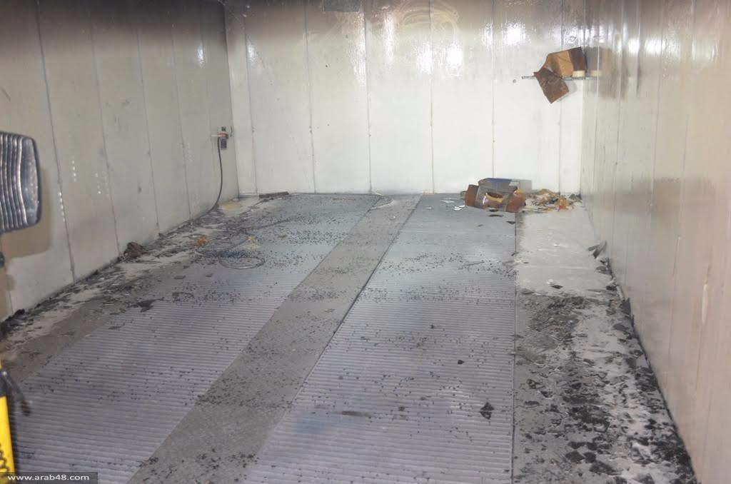 البعنة: حريق في ورشة لتجليس ودهان السيارات