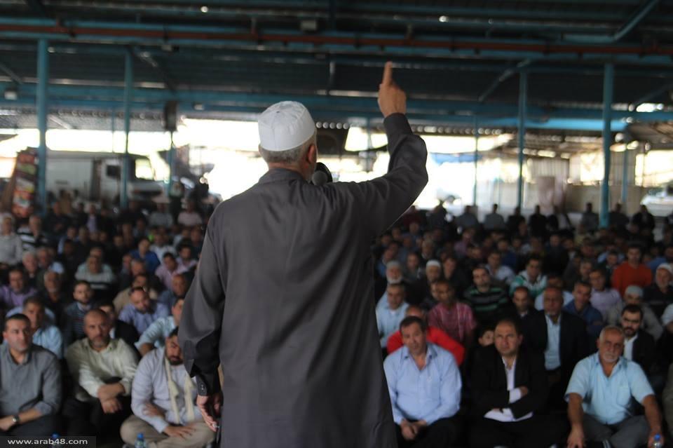 عرابة: مظاهرة احتجاجية على حظر الحركة الإسلامية