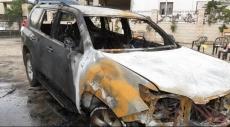 عرابة: ألسنة النار تلتهم سيارة مواطن