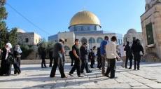 مستوطنون يقتحمون المسجد الأقصى المبارك صباح اليوم