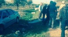 إصابة في حادث سير ذاتي قرب شعب