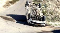 أم الفحم: إصابة شخص في انقلاب سيارة
