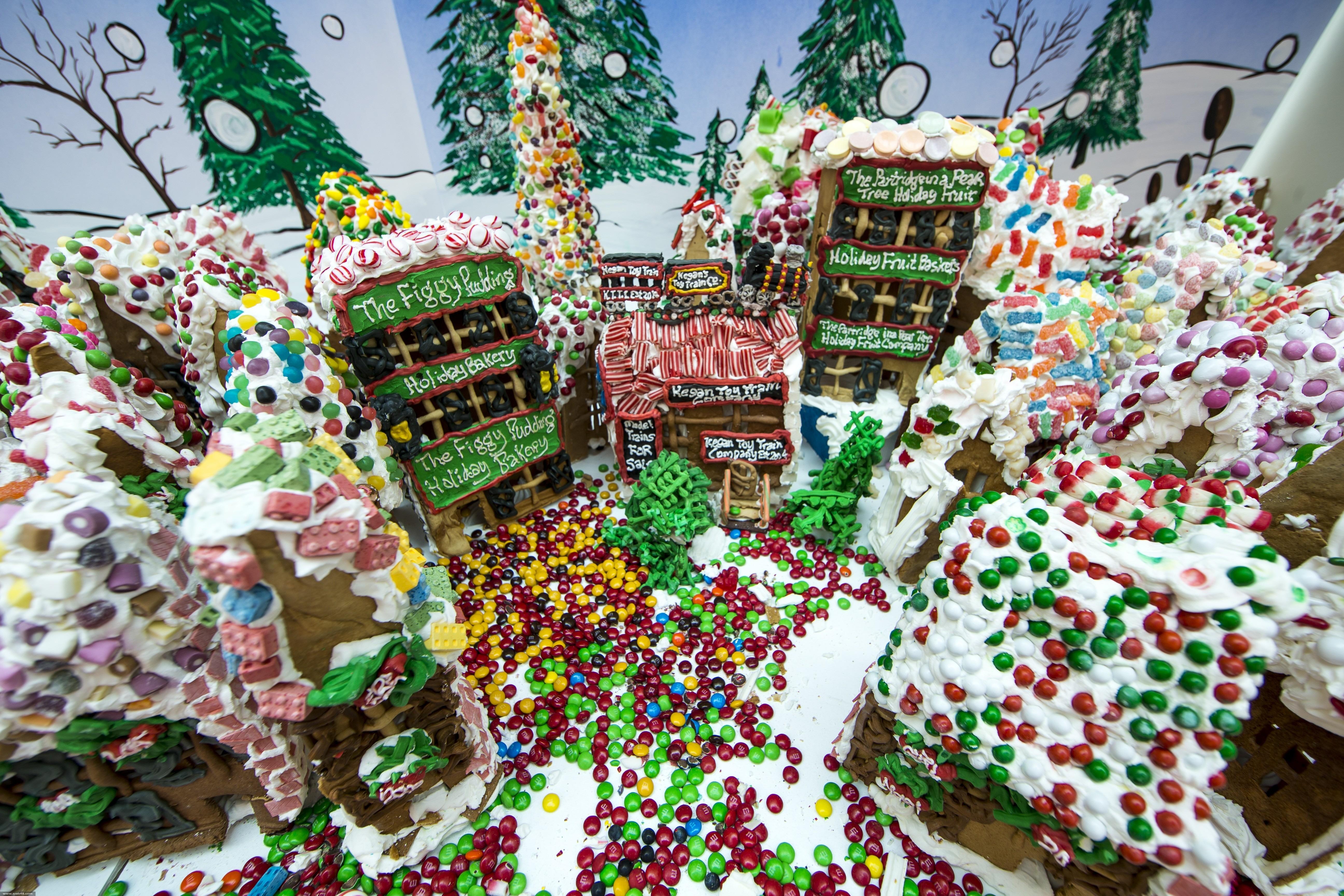 الولايات المتحدة: قرية كاملة من كعكة الزنجبيل