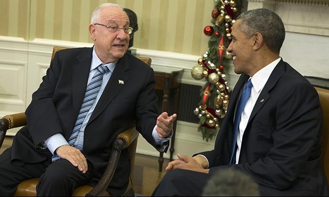 أوباما لريفلين: من الصعب الدفاع عن إسرائيل في المؤسسات الدولية