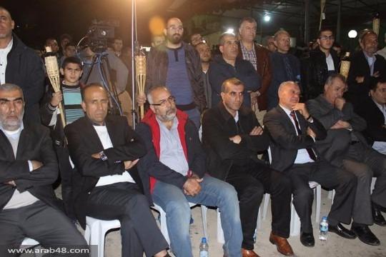 طمرة: الآلاف في مسيرة مشاعل احتجاجا على حظر الحركة الإسلامية